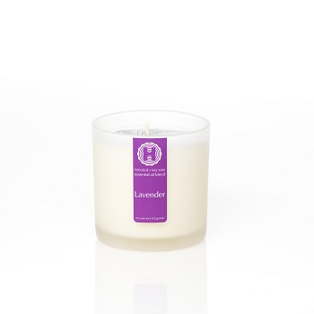 Lavender Frosted Jar Candle