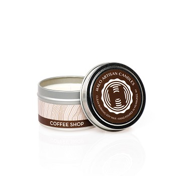 Coffee Shop Soy Candle Tin
